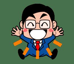 No.1 company Aim! Salesman work hard sticker #533235