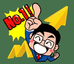 No.1 company Aim! Salesman work hard sticker #533248