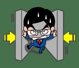 No.1 company Aim! Salesman work hard sticker #533257
