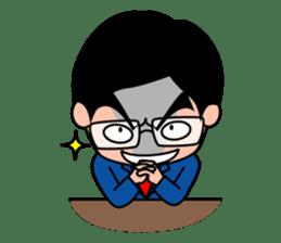 No.1 company Aim! Salesman work hard sticker #533262