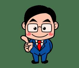 No.1 company Aim! Salesman work hard sticker #533266