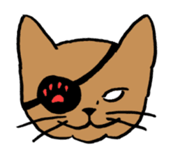 hard boiled cats sticker #534634