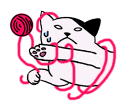hard boiled cats sticker #534644