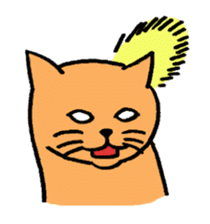 hard boiled cats sticker #534666