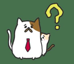 Cat's family sticker #538116