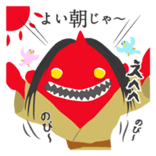 Japanese monster stamp sticker #538607