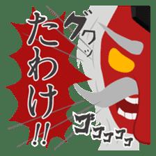 Japanese monster stamp sticker #538618