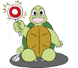 The private life of a pleasant tortoise sticker #539554