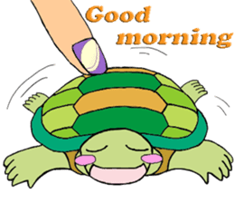 The private life of a pleasant tortoise sticker #539559