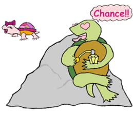 The private life of a pleasant tortoise sticker #539563