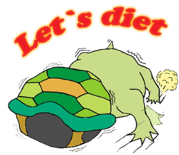 The private life of a pleasant tortoise sticker #539567
