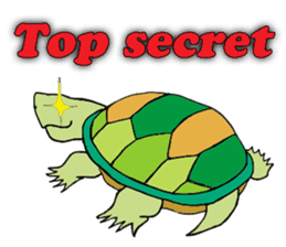 The private life of a pleasant tortoise sticker #539576