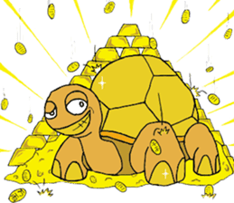 The private life of a pleasant tortoise sticker #539582