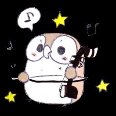 Erhu-owl Stickers