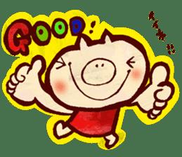 thank you pig sticker #540474