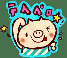 thank you pig sticker #540475