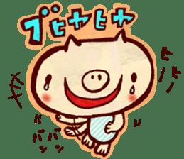 thank you pig sticker #540481
