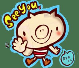 thank you pig sticker #540490