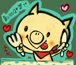 thank you pig sticker #540499