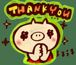 thank you pig sticker #540505