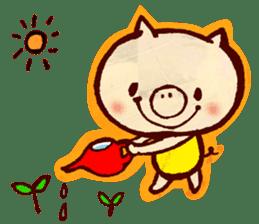 thank you pig sticker #540508