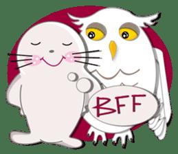 Baby Seal & Owly sticker #540764