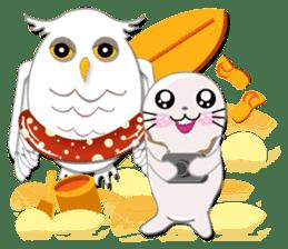 Baby Seal & Owly sticker #540771