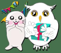 Baby Seal & Owly sticker #540781