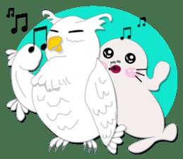 Baby Seal & Owly sticker #540783