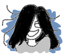 Mysterious girl sticker #541843