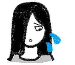 Mysterious girl sticker #541844