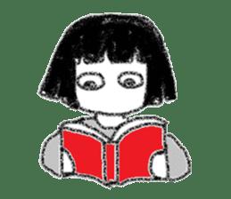 Mysterious girl sticker #541852