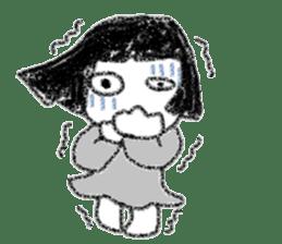 Mysterious girl sticker #541855
