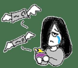 Mysterious girl sticker #541858