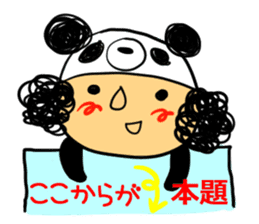 Headdress PANDA Girls sticker #542002