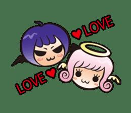 Angel and devil sticker #542390