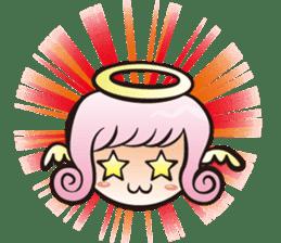 Angel and devil sticker #542391