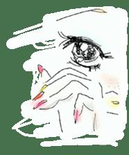 kawaii nail life & kimono princess story sticker #542759