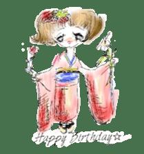 kawaii nail life & kimono princess story sticker #542762