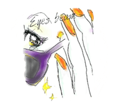 kawaii nail life & kimono princess story sticker #542769