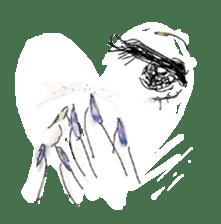 kawaii nail life & kimono princess story sticker #542771