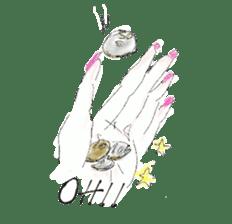 kawaii nail life & kimono princess story sticker #542777