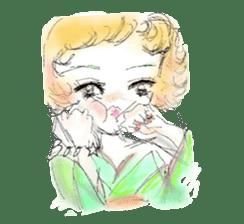 kawaii nail life & kimono princess story sticker #542779