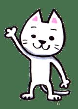 White cat sticker #543114