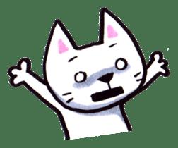 White cat sticker #543115
