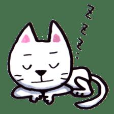 White cat sticker #543117