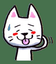 White cat sticker #543120