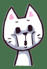 White cat sticker #543124