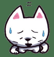 White cat sticker #543134