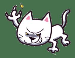 White cat sticker #543136